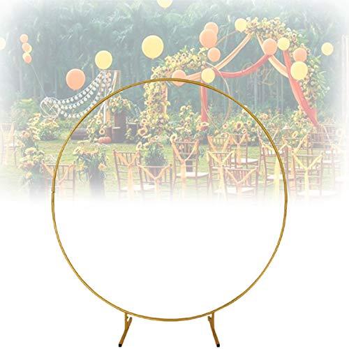 YHWD Arco Boda Redondo 3.2 Pies, Arco Círculo Dorado con Soportes Aro Metal para Decoración Fiesta Cumpleaños, Decoración Boda Decoración Fondo Foto Baby Shower