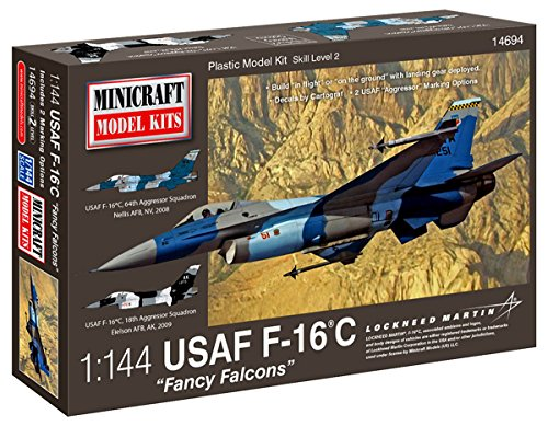 Minicraft Models Dempsey Designs Morceau modèles Echelle 1 : 144 modèle Falcons United States Air Force F-16 C Fancy Kit