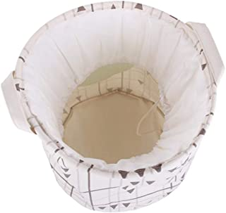 MJY Panier de rangement en toile de coton jouet Vogue lin panier de rangement Home Decor imperméable à l'eau plier panier ...