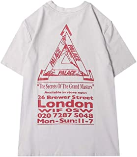 New Summer Palace Letter Printed Triangle Logo Casual Short Sleeve T-Shirt for Men/Women