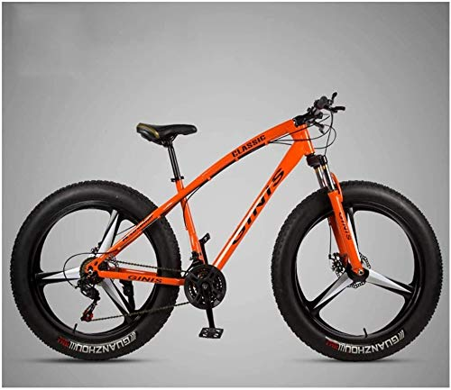 Buy Discount Kunze 26 Inch Mountain Bicycle, High-Carbon Steel Frame Fat Tire Mountain Trail Bike, M...