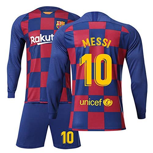Heren voetbalshirt voetbal uniform - # 10 Lionel Messi Barcelona shirt, alle maten kinderen volwassenen sport voetbal kleding pak