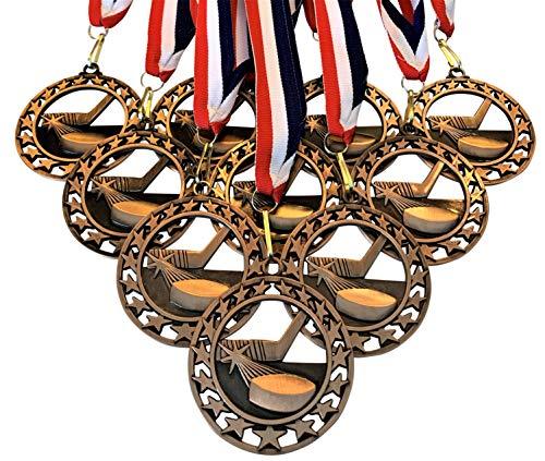 Express Medals 10 Stück Eishockey Star Medaillen Trophäe Auszeichnung mit Halsbändern