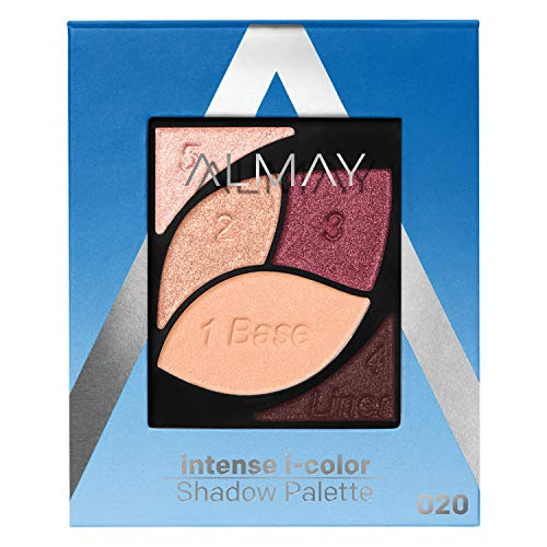 Almay Intense I-Color Enhancing Eyeshadow Palette, Longlasting Primer Enriched Eye Makeup with Antioxidant Vitamin E, Hypoallergenic and Cruelty Free, 020 Blue Eyes, 0.1 oz.