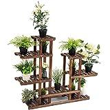 <span class='highlight'><span class='highlight'>CASART</span></span>. 6-tier Flower Shelf 13 Pots Rack Wooden Plant Stands Garden Holder Display Shelf Multifunctional Storage Bookshelf