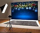 Vinyl 7x5ft Frohe Weihnachten Hintergrund Weihnachtsbaum Dekorationen Fotografie Hintergrund Weihnachtskugeln Heiligabend Schneeflocke Kinder Baby Erwachsene Porträts Fotostudio