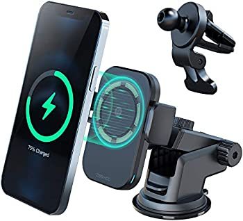 ZeeHoo M1 Magnetic Fast Wireless Car Charger Windshield/Dash Mount