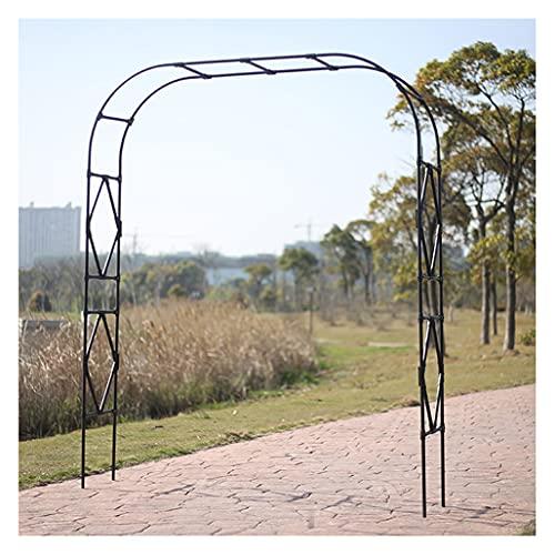 Metal Arco Jardín Cenador,Arco Jardín Montaje para Césped Jardín Resistente Al Agua Duradero Al Aire Libre para Plantas Trepadorass Color:Blanco