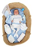Borda y más Bebé Reborn recién Nacido hiperrealista. 100% Fabricado en España (Romeo)