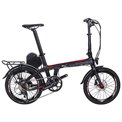 """SKNIGHT E6 Carbon Faltrad E-Bike 20""""Zoll Faltbares ebike 250W Bürstenloser Motor Klapprad Pedelec Tretunterstützung Elektrofahrrad mit Samsung 36V 8,7AH Lithium Akku und Ladegerät Shimano 9 Gänge"""