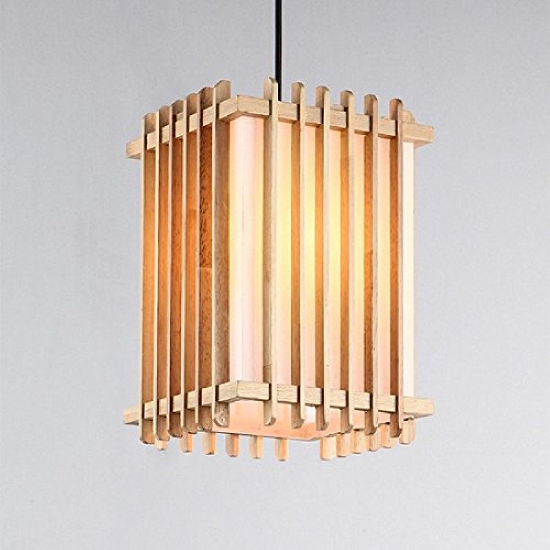 Haoaijia Pendelleuchte Eenvoudige Houten Rechthoek Hanglampen Opknoping Hout Hanglampen Armaturen Armatuur Eetkamer Restaurant