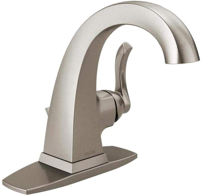 Delta Everly 4 In Centerset Single Handle Bathroom Faucet In Spotshield Brushed Nickel Amazon Com