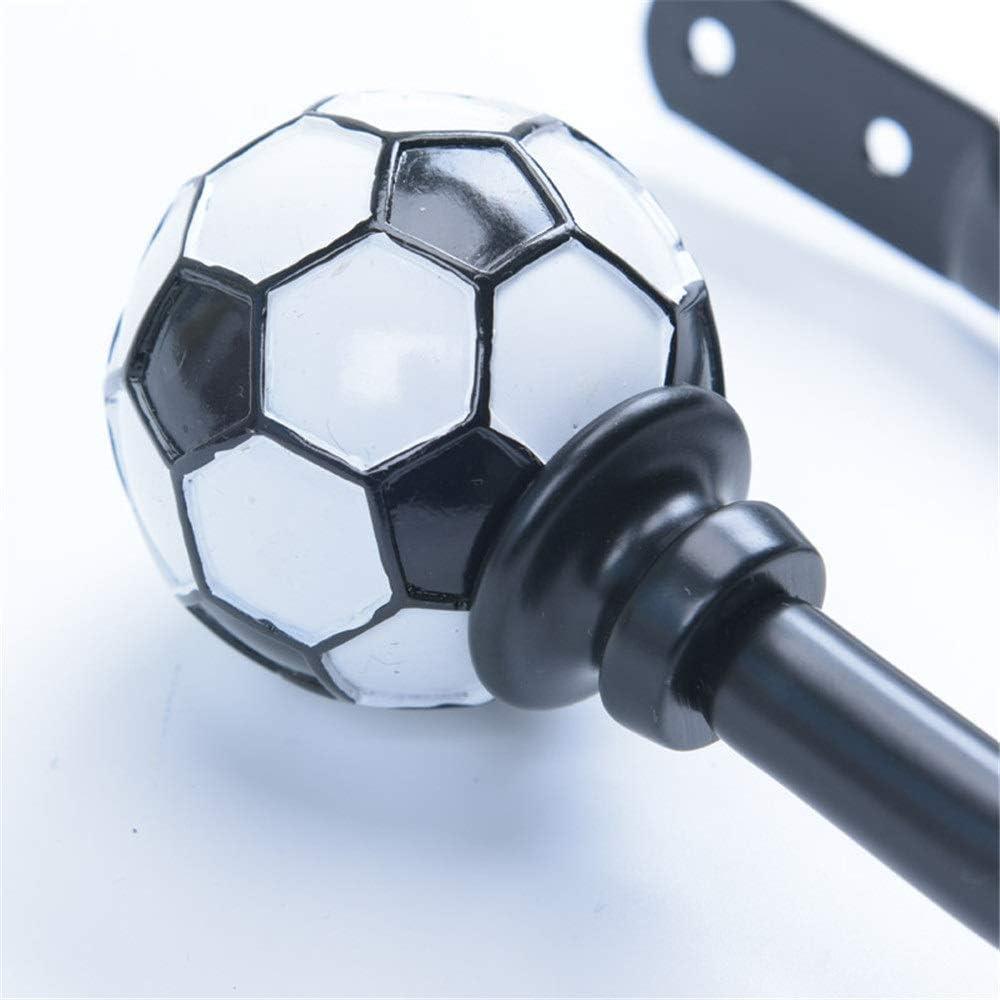 XCDM Fermatende Fermi per Tende in Metallo con estremit/à a Sfera in Resina 1 Paio di Fermi per Tende Fermi per tendaggi a Tema Coppa del Mondo di Calcio Creativo