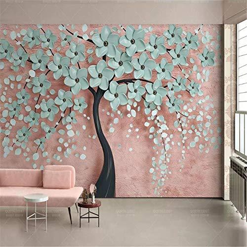Tapeten Wandbild Wandaufkleberhochwertiges Seidenmaterial 3D Tapetenbaum Blume Moderner Fernseher Home Hintergrund Wanddekoration 3D Tapete Behang-About_350 * 245Cm_3_Stripes