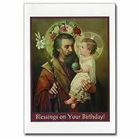 Holy note card (Large Hard)- St. Joseph(Birthday!)