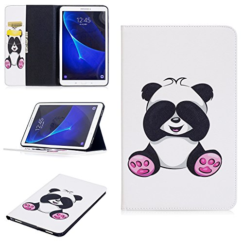Tab A6 10.1'' Slim Shell Case, Flip Cover voor Samsung Galaxy Tab A6 10.1'' T580/T585 - Portemonnee Lederen Case voor Samsung Galaxy Tab A 10.1 inch SM-T580 / SM-T585 Tablet Stand Cover