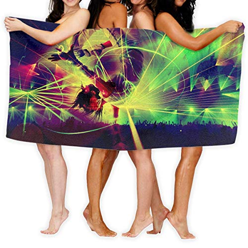 Gebrb Prämie Duschtücher/Badetücher,Strandtücher Large Bath Towel Dancer Digital Art Lightweight High Absorbency Bath Sheet for Beach Home Bathrooms Pool Gym