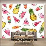 Mural Fotográfico ,200 x 140 Cm,Incluye Pegamento Dormitorio Salon Fotomurales Pared - Helado De Frutas Y Colores