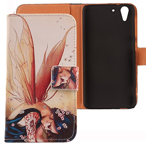 Lankashi PU Flip Leder Tasche Hülle Hülle Cover Schutz Handy Etui Skin Für HTC Desire Eye Wing Girl Design
