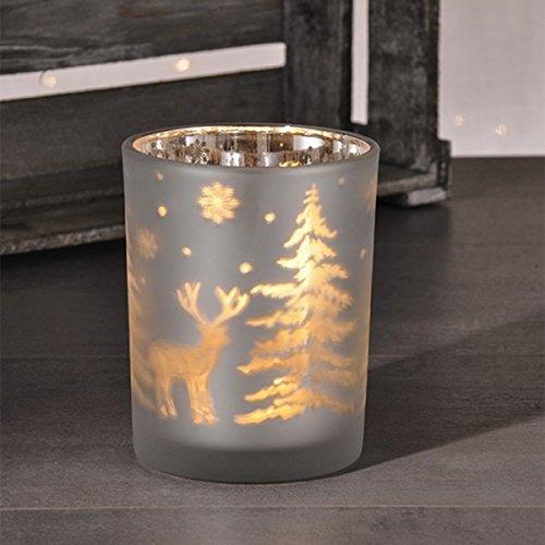 Gravidus decoratieve glazen vaas met LED-verlichting