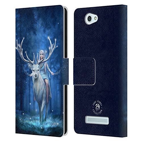 Head Hülle Designs Offizielle Anne Stokes Wald Fantasie 2 Leder Brieftaschen Handyhülle Hülle Huelle kompatibel mit Wileyfox Spark/Plus