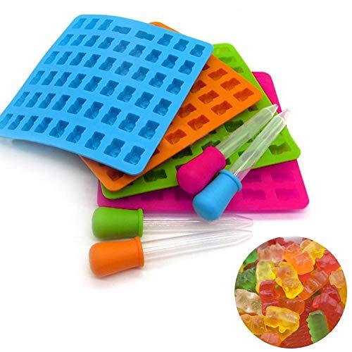 cineman Siliconen snoepvormen, 53-gats snoepvormen met druppels voor chocoladevormen, gelei, gummibeertjes, zeep, gummibeertjes