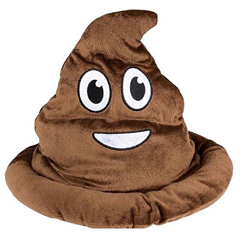 Novelty Treasures Soft Fabric Brown Emoji Poop Hat