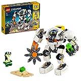 LEGO 31115 Creator 3-in-1 Weltraum-Mech, Weltraumroboter oder Lastenträger Spielzeug, Actionfigur mit Alien- Figur