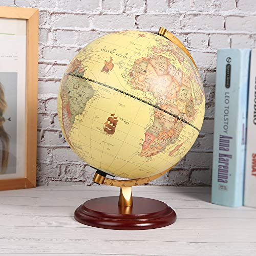 3D School Supplies Globe, Small Globe, 25CM Teaching Tool for Home(25cm antique with light)