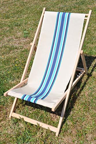 Chaise longue transat chilienne Cap Ferret bleu