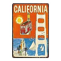 カリフォルニアティンサインヴィンテージノベルティ面白い鉄の絵の金属板