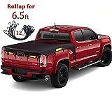 Coverify Truck Bed Cover Standard Bed (6.5′ Box) for Ford F150/F250/F350/F450 Silverado/Sierra Ram Tundra (6.5′ Box) Truck Bed Tarp Super Duty Cargo Net