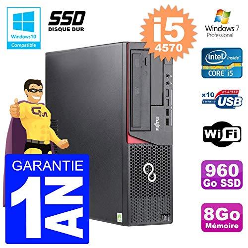 Fujitsu PC Esprimo E720 E85 + Dt i5-4570 RAM 8gb Scheibe 960 GB SSD Wifi W7