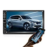 2 DIN Car GPS Navigation Stereo, 7 Pulgadas Quad-Core Android 8.1 Pantalla táctil en Dash Navigation Car Radio Reproductor de Video con Bluetooth GPS WiFi Enlace Espejo Cámara de Respaldo