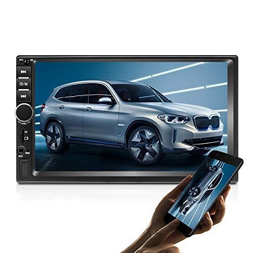 Podofo Autoradio Android 2 Din GPS 7 pollici Touch Screen Lettore video per auto con Bluetooth GPS WiFi Dulica Schermo Radio FM + Fotocamera posteriore (1G+16G)