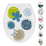 JOTOM Siège de Toilette de Haute Qualité Abattant WC Facile à Installer et à Nettoyer Magnifique Imprimé Toilette Siège...