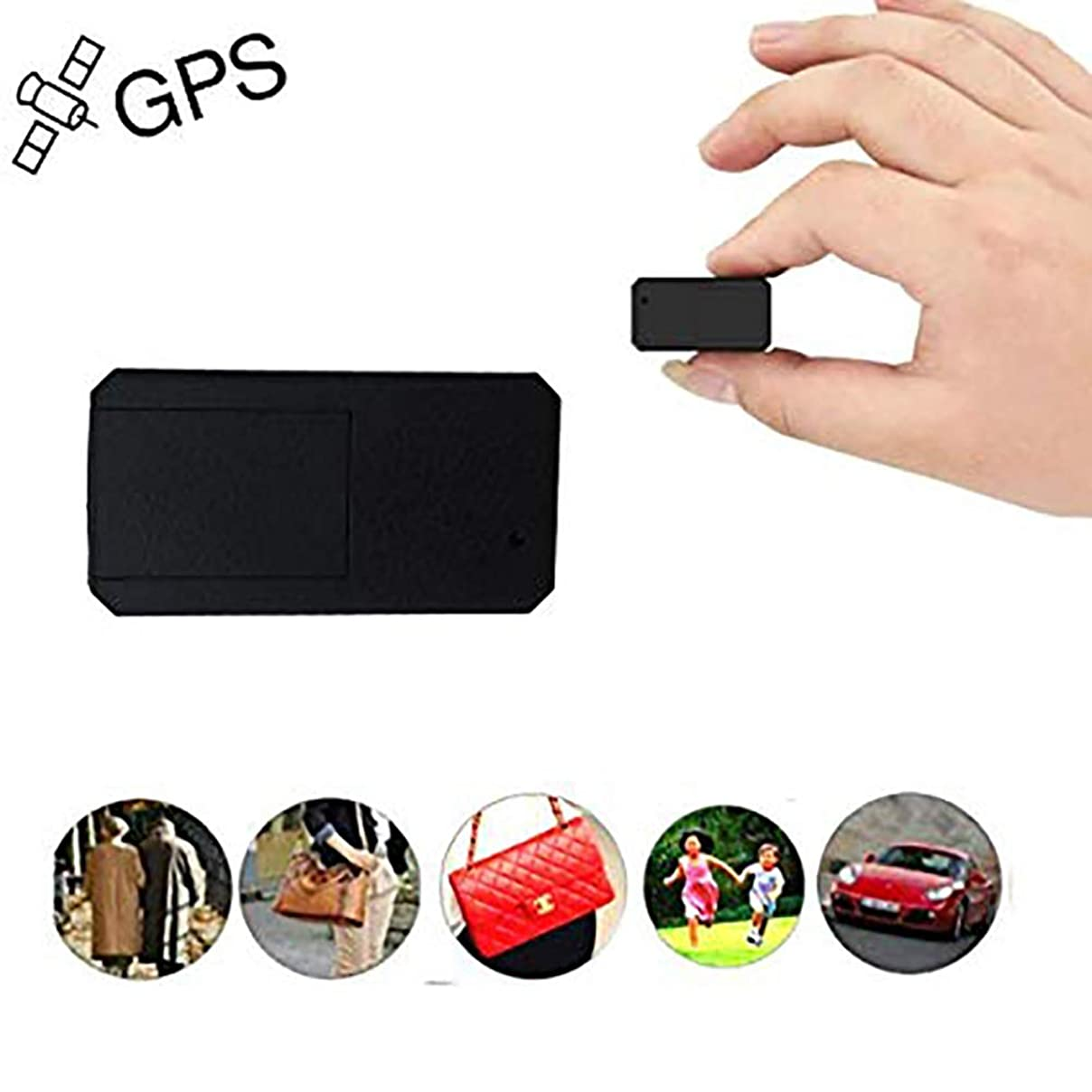 Hangang GPS,Mini GPS Car Tracker Anti Thief Real Time GPS Tracker Portable GPS Tracking Anti Loss GPS Locator Long Standby Time 200h for Purse Bag Wallet Bags Kids for iOS and Andriod mmpwl776340