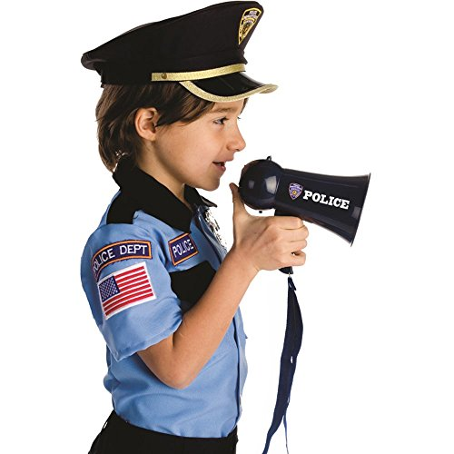 Dress Up America Pretend Play Police Officer's Megaphone with Siren Sound For Kids