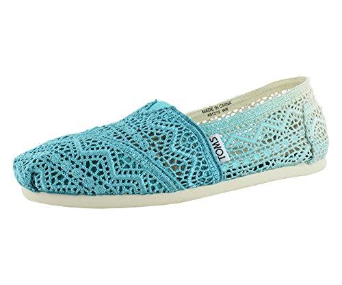 TOMS Womens Classics Crochet Shoe Baltic Dip Dyed Size 5.5 B(M) US