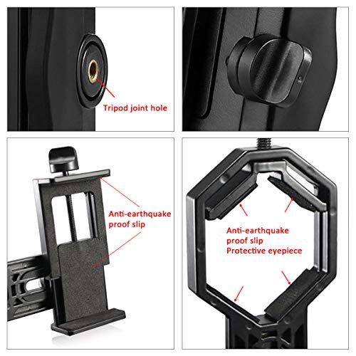 Scope Smart Phone Adapter Mount - Compatibile con binocolo monoculare Cannocchiale Telescopio e microscopio - Per iPhone Sony Samsung Moto Etc