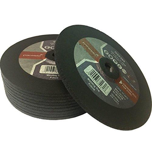 Parweld 100 mm x 1 mm de grosor discos de corte de acero inoxidable discos corte metal 16 mm calibre 50 unidades cm 10,16
