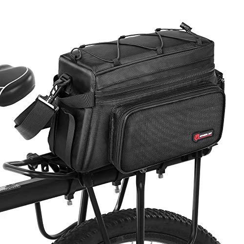 Saco do tronco da bicicleta 25L saco de bicicleta resistente à água Rack de bicicleta com capa de chuva ciclismo prateleira saco
