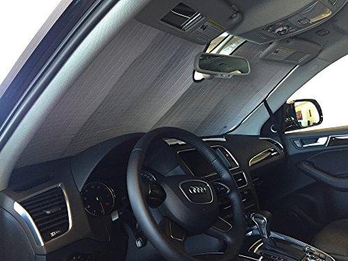 HeatShield, The Original Windshield Sun Shade, Custom-Fit for Audi Q5 SUV 2009-2017, Silver Series