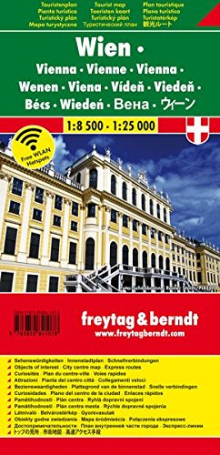 Wien, Stadtplan, 1:8.500 - 1:25.000, Touristenplan (freytag & berndt Stadtpläne)