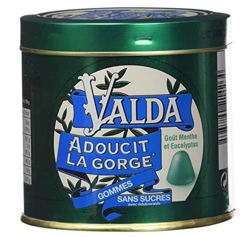 Valda Gommes Sans Sucres Goût Menthe Eucalyptus 160 g - Lot de 2 boites(2)