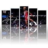 Póster de Michael Jordan Wings 11, autografiado, cuadro de lienzo, para regalo del hogar, sin marco (tamaño 5: 8 x 12 x 2 x 16 x 2 x 20 pulgadas x 1 marco)