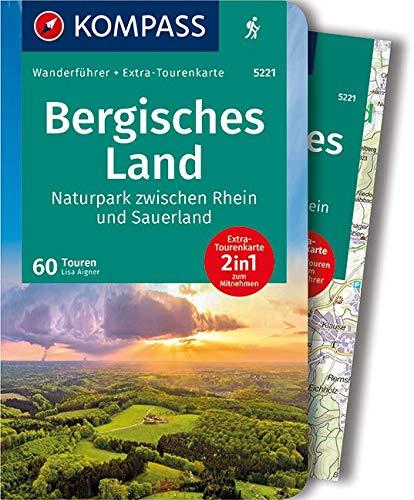 KOMPASS Wanderführer Bergisches Land, Naturpark zwischen Rhein und Sauerland: Wanderführer mit Extra-Tourenkarte 1:75.000, 60 Touren, GPX-Daten zum Download