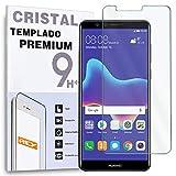 REY Protector de Pantalla para Huawei Y9 2018 / Huawei Enjoy 8 Plus, Cristal Vidrio Templado Premium
