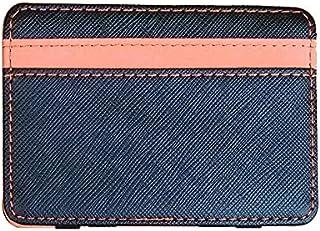 HIIHHIIHIqb Wallet Purse, Women Leather Money Clips Lean Clutch Bus Card Bag for Women Small Cash Holder Slender Man Purse...