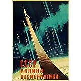 CWJCZY Russisches Propaganda-Plakat der Weinlese das